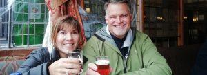couple in a pub